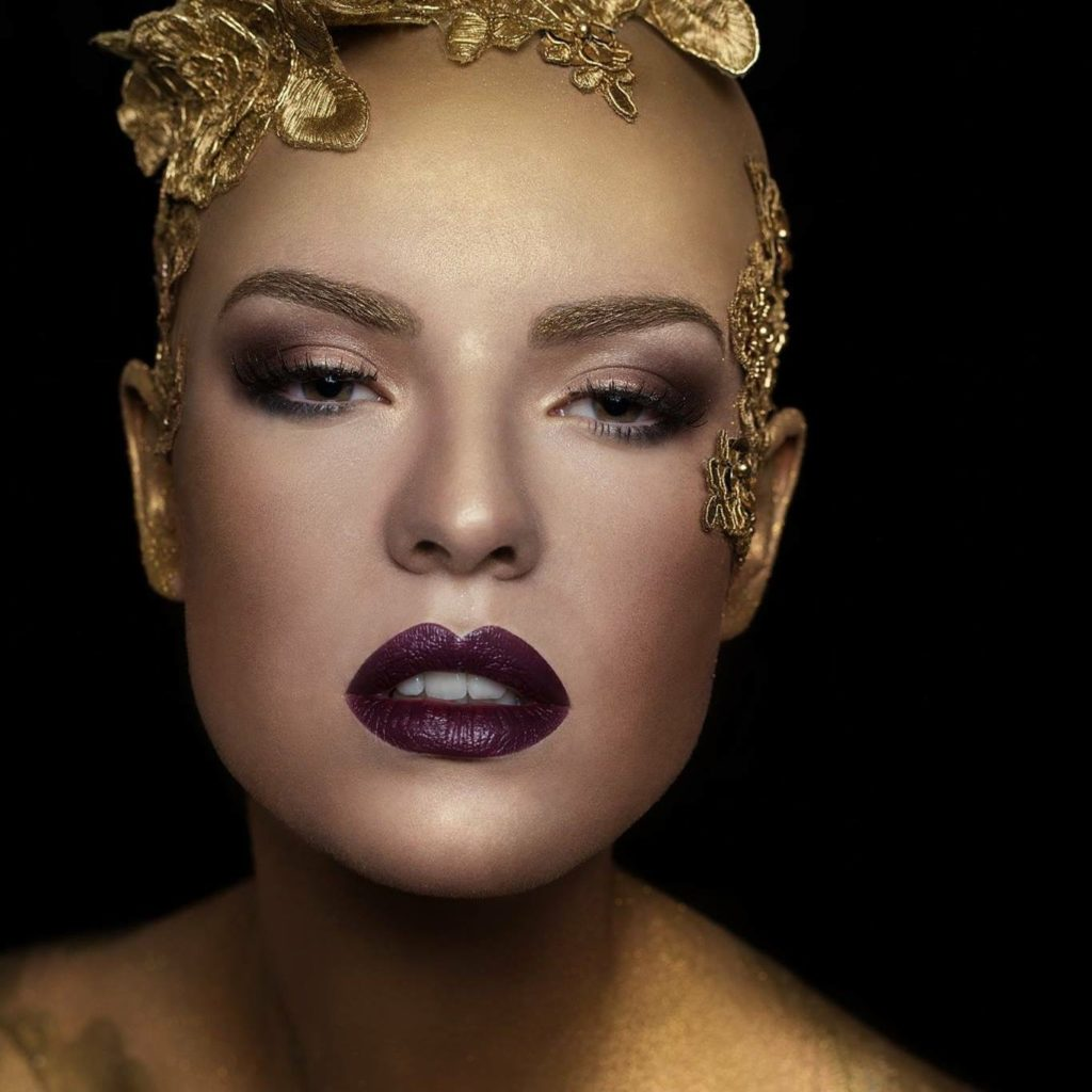 Model Franziska Holzer Face Shooting 2