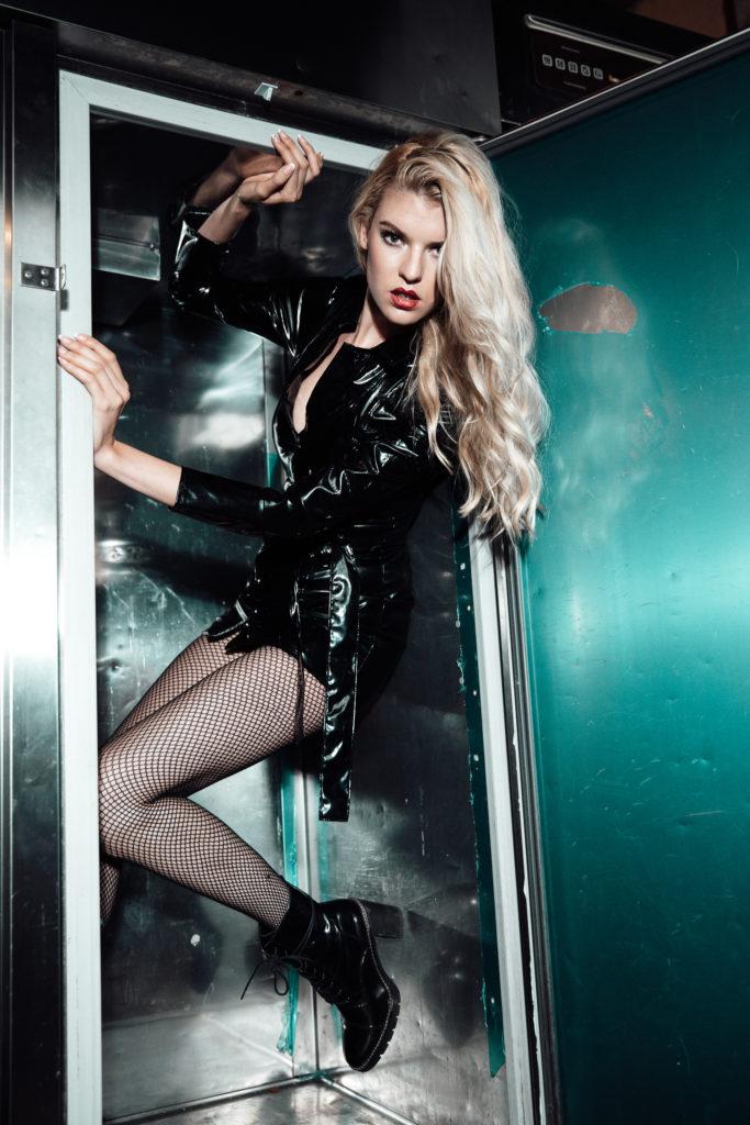 Model Franziska Holzer Leather Shooting 1