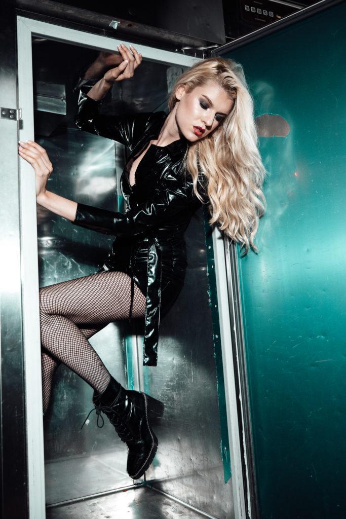 Model Franziska Holzer Leather Shooting 2