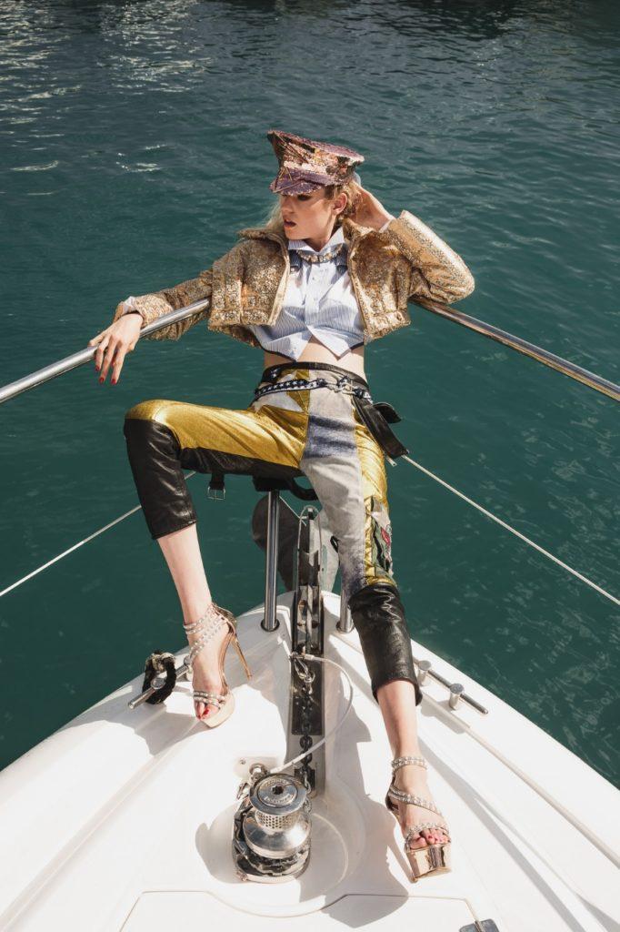 Model Franziska Holzer Pia Bolte boat shooting 1